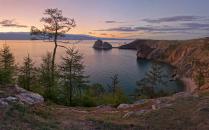 Закат на Ольхоне