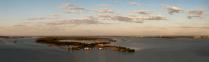 Зеленый остров на Волге вблизи Саратова