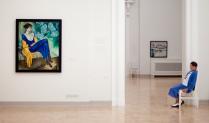 Русский музей. Две женщины в синем.