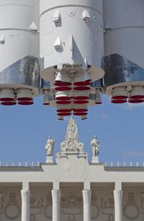 Павильон и ракета на ВВЦ