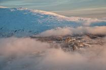 Город в облаках.