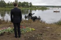 Президент РФ посетил место крушения самолета Як-42 под Ярославлем