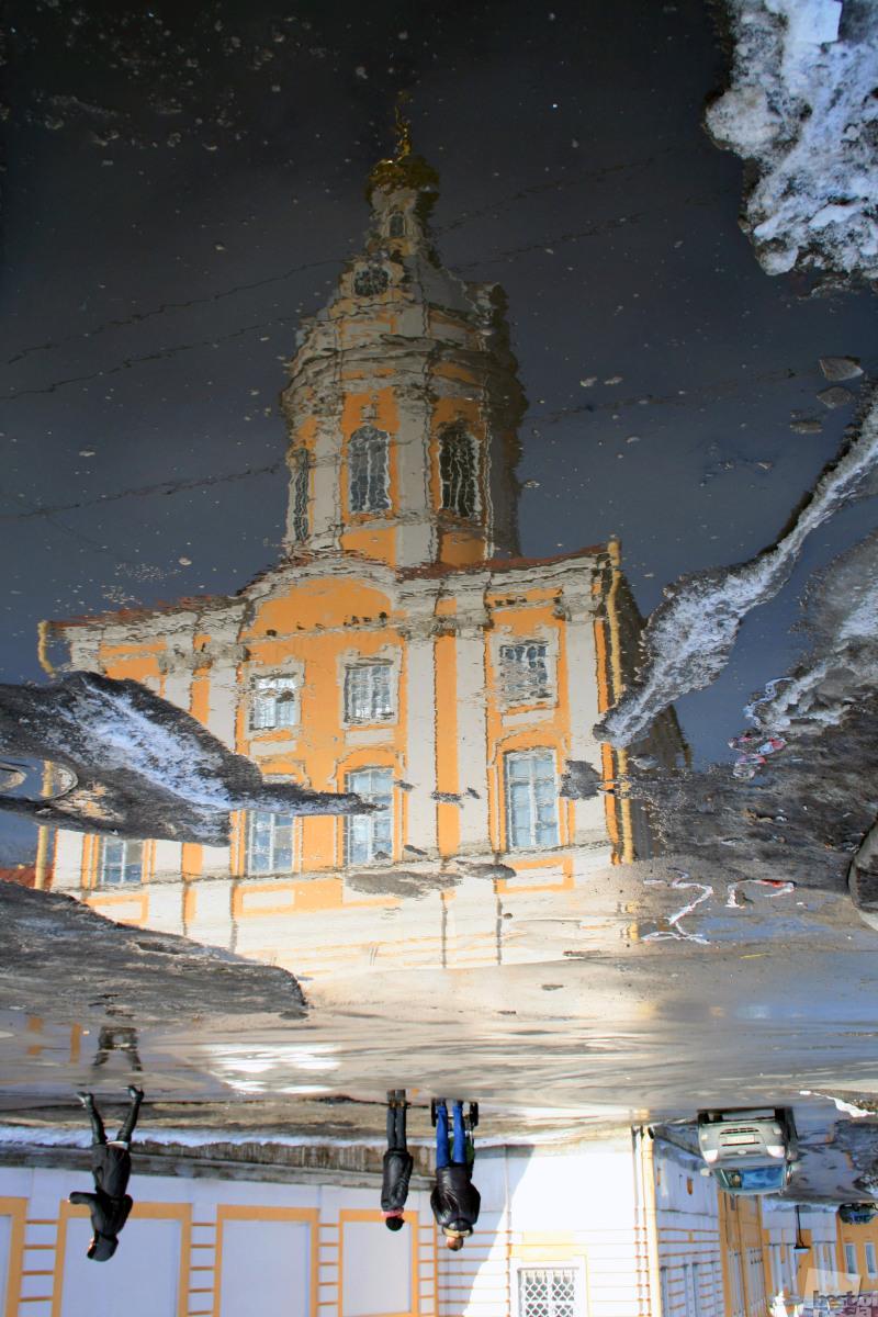 Серебро талого снега под ногами