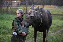 Ольга с лосихой
