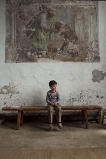 Мальчик и фреска