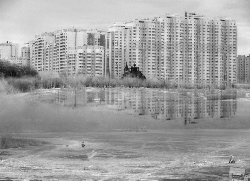 Апрельский городской пейзаж